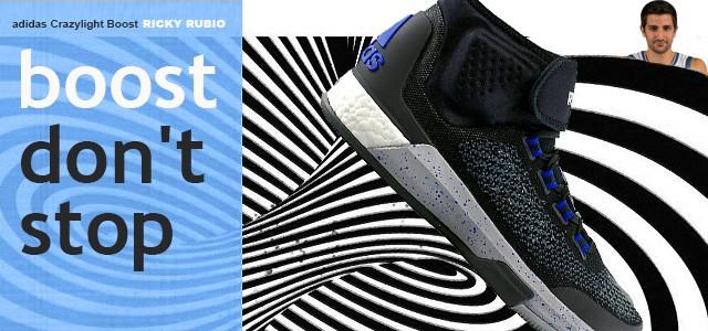 adidas Crazylight Boost - Ricky RubioEstas sapatilhas de basquetebol adidas foram desenhadas para rápidos cortes à volta dos teus adversários e venenosos ataques ao cesto.