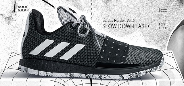 Slow Down FastNo dia 25 de Setembro a adidas Basketball apresentou o Harden Vol.3, a mais recente sapatilha de assinatura criada para o actualmente MVP da NBA, James Harden.