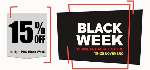 A Promoção PBS Black WeekA Black Week está a chegar à Planeta Basket Store e oferece-lhe um desconto adicional de 15% em todos os artigos da loja. A promoção estará ativa entre os dias 19 e 25 de Novembro e para dela beneficiar, o cliente terá apenas de inserir o código BPS Black Week