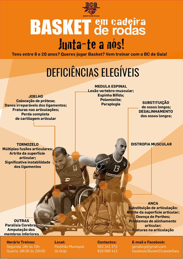 O Basket Clube de Gaia procura fazer crescer a sua equipa de Basquetebol em cadeira de rodas.