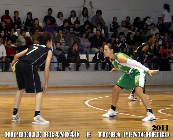 Michelle Brandão e Ticha Penicheiro