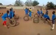 Drible entre pneus