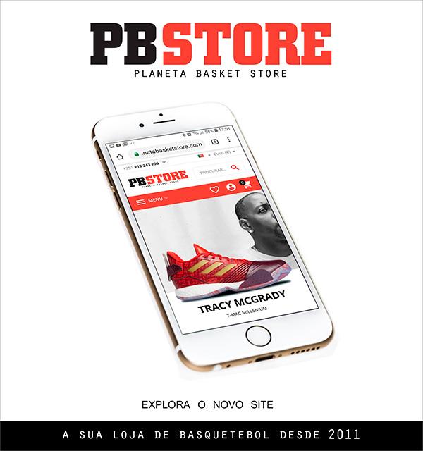 o lançamento do novo site Planeta Basket Store