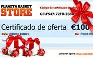 O cheque-prenda Planeta Basket Store