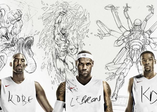 Nike transforma atletas em Super-Heróis